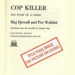 Cop Killer: Martin Beck series