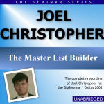 Joel Christopher - Big Seminar Series - Dallas 2003